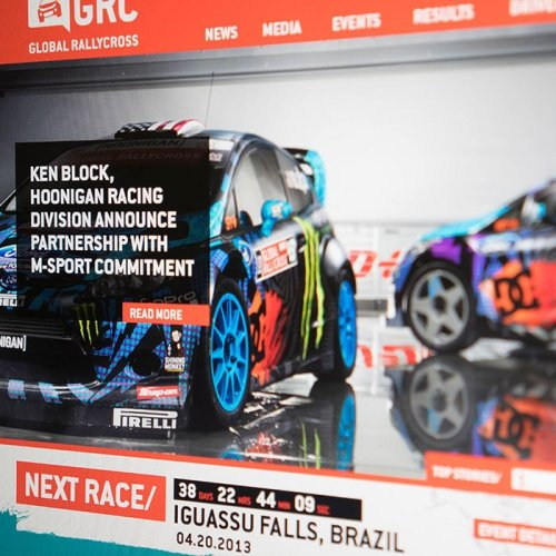Red Bull GRC - Website Design
