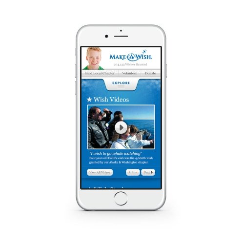 Make-A-Wish Foundation - Mobile Site Design