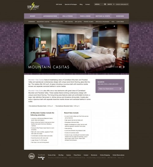 Website - Mountain Casitas Room