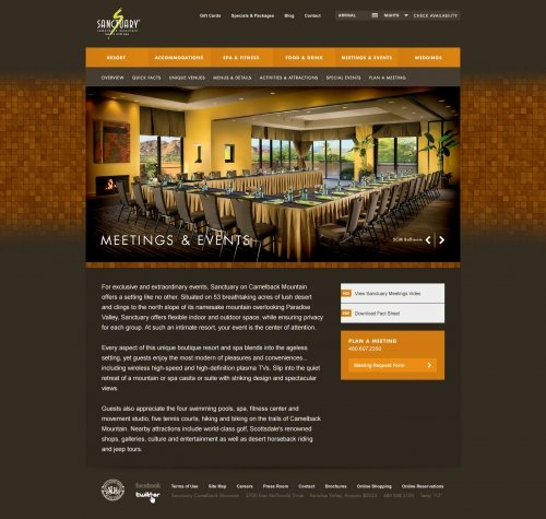 Website - Meetings & Events